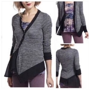 Anthropologie Meadow Rue Askew Asymmetric Cardigan
